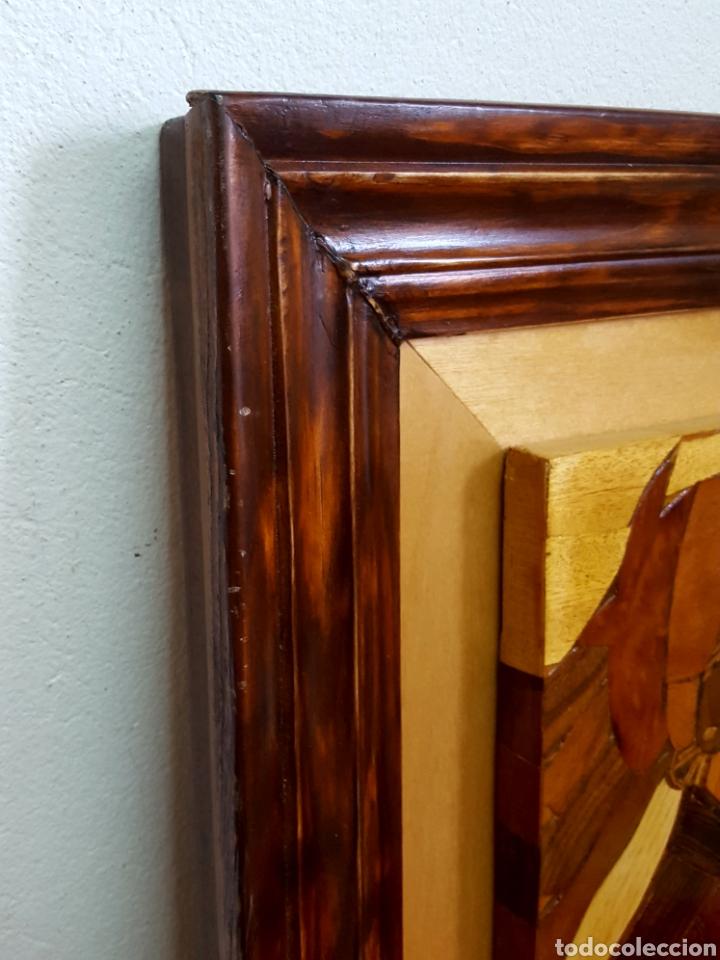 Varios objetos de Arte: PLAFÓN EN MARQUETERIA DEL GUERNICA POR EOLO FRANCISCO GIL ARMAS - Foto 6 - 171772457