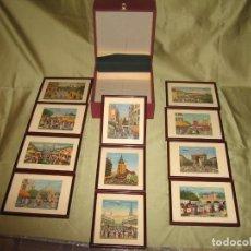 Varios objetos de Arte: ONCE MINI CUADROS CON TEMAS DE HECTOR TROTIN 25 ANIVERSARIO DE FINANZAUTO CARTERPILLAR. Lote 171779894