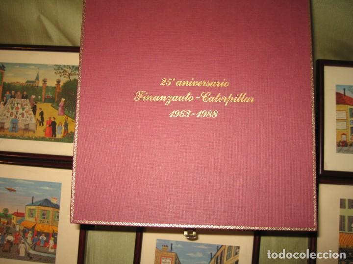 Varios objetos de Arte: ONCE MINI CUADROS CON TEMAS DE HECTOR TROTIN 25 ANIVERSARIO DE FINANZAUTO CARTERPILLAR - Foto 4 - 171779894