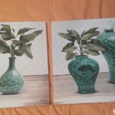 Varios objetos de Arte: PAREJA DE CUADROS * FLOREROS FLORES * 2 CUADROS. Lote 171874518