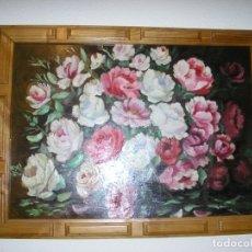 Varios objetos de Arte: CUADRO DE FLORES AL OLEO-GRANDE. Lote 172267437