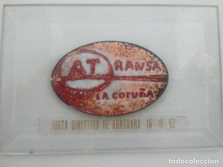 Varios objetos de Arte: Esmalte al fuego sobre metal pieza única Julia Ares ,ATRANSA,1992 la Coruña 12x8 cm - Foto 2 - 172583968
