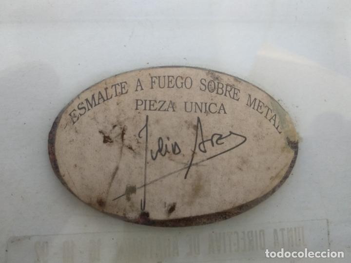 Varios objetos de Arte: Esmalte al fuego sobre metal pieza única Julia Ares ,ATRANSA,1992 la Coruña 12x8 cm - Foto 3 - 172583968