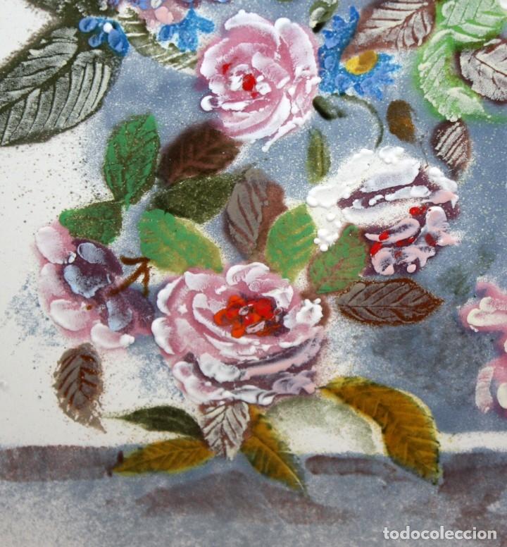 Varios objetos de Arte: ESMALTE FIRMADO POR J.R COSTA (MARIDO DE LA ARTISTA MONTSERRAT MAINAR) FLORERO - Foto 4 - 172609213