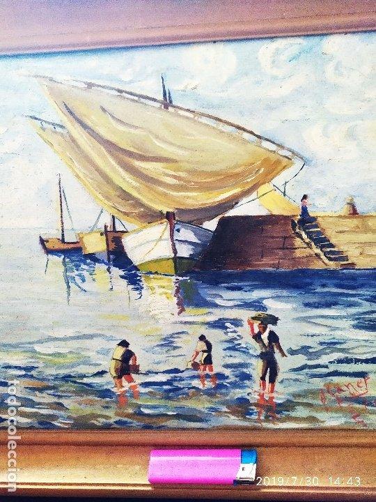 Varios objetos de Arte: ÓLEO SOBRE TABLA FIRMADO J CANET PRECIOSO - Foto 2 - 172661922