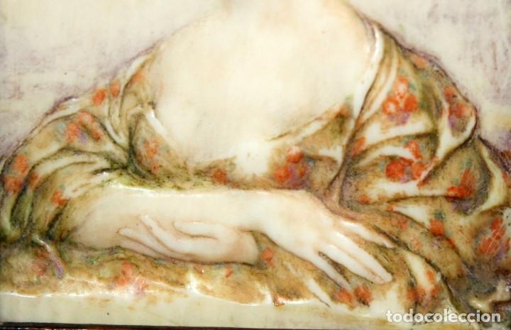 Varios objetos de Arte: BONITA MINIATURA DEL SIGLO XIX. DAMA DE PERFIL - Foto 4 - 172758935