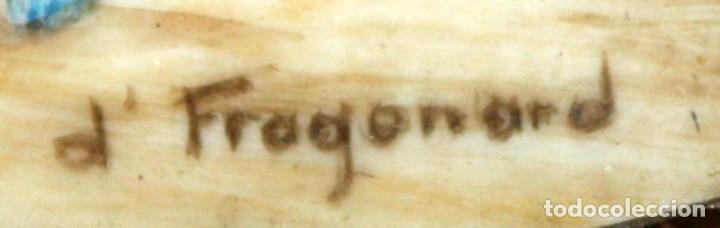 Varios objetos de Arte: DAPRES DE FRAGONARD. BONITA MINIATURA PINTADA A MANO DEL SIGLO XIX. LE SERMENT DAMOUR - Foto 4 - 172759999