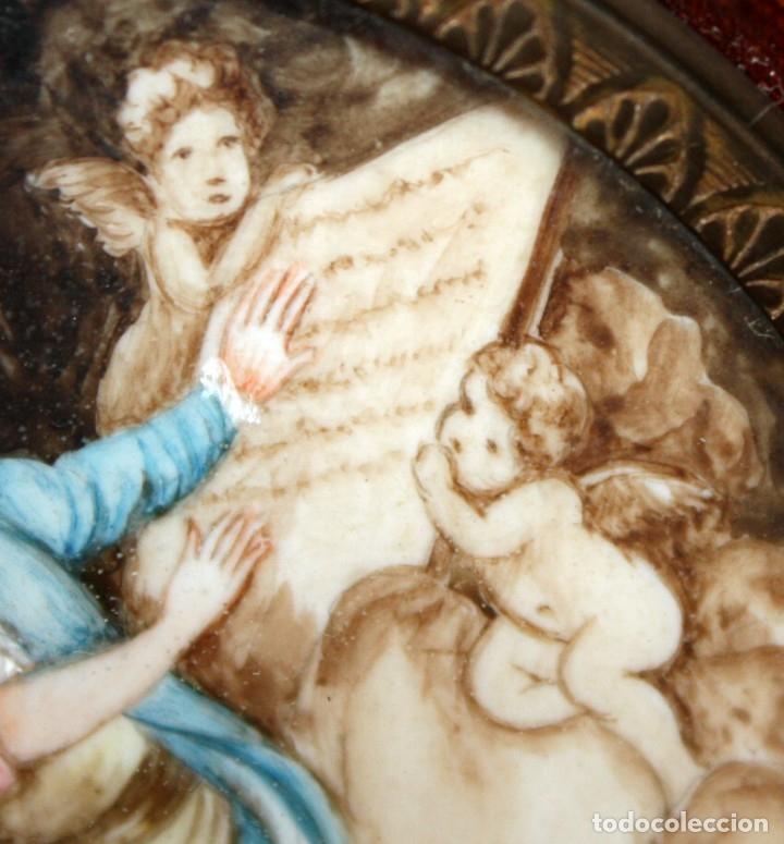 Varios objetos de Arte: DAPRES DE FRAGONARD. BONITA MINIATURA PINTADA A MANO DEL SIGLO XIX. LE SERMENT DAMOUR - Foto 5 - 172759999