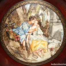 Varios objetos de Arte: D'APRES DE BOUCHER. MINIATURA PINTADA A MANO DEL SIGLO XIX. Lote 172760198