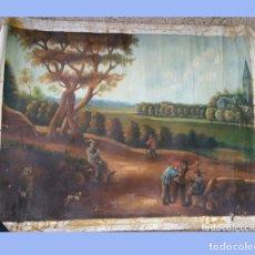 Varios objetos de Arte: PINTURA CUADRO ÓLEO SOBRE LIENZO 85X65CM. Lote 173030342