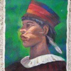 Varios objetos de Arte: PINTURA CUADRO ACRÍLICO SOBRE LIENZO 52 X 43 CM. Lote 173030710