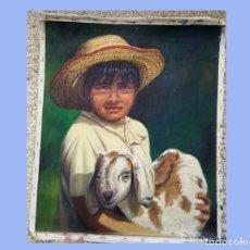 Varios objetos de Arte: PINTURA CUADRO ÓLEO SOBRE LIENZO 64 X 53 CM. Lote 173030999