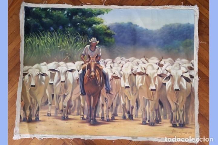 PINTURA CUADRO ÓLEO SOBRE LIENZO 83 X 62 CM (Arte - Varios Objetos de Arte)