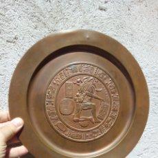 Varios objetos de Arte: PLATO COBRE MEXICO JUEGO PELOTA CHINCULTIC. Lote 173451182