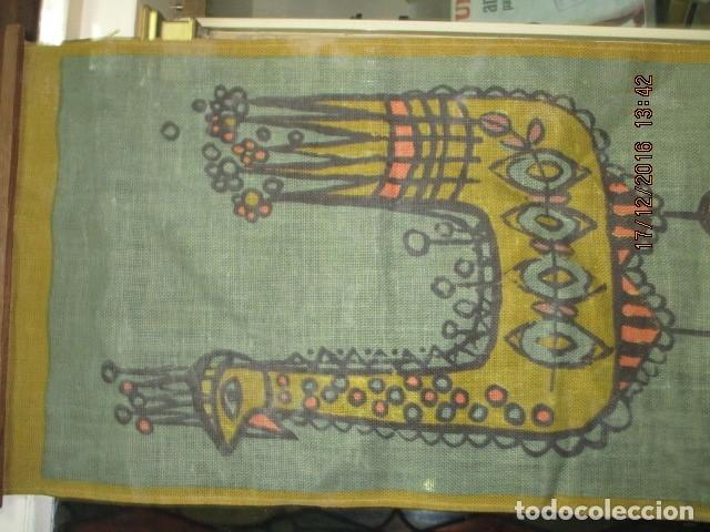Varios objetos de Arte: ANTIGUA Y RARA PINTURA EN TELA DE SACO FINO O ARPILLERA FIRMA UHR - Foto 3 - 173490698