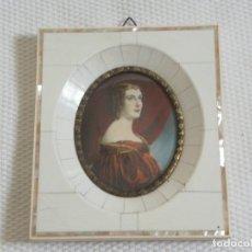 Varios objetos de Arte: MINIATURA PINTADA A MANO. CON MARCO ORIGINAL DE NACAR Y........BUEN ESTADO. SIN ABRIR.. Lote 173571442