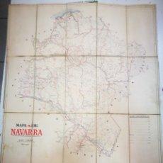 Varios objetos de Arte: MAPA DE NAVARRA AÑO 1926 ¡UNICO!¡RARO!TALLERES DEL INSTITUTO GEOGRÁFICO ESCALA 1:300,000. Lote 173590034