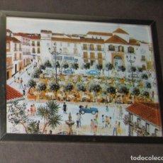 Varios objetos de Arte: CUADRO PLAZA DE LOS NARANJOS MARBELLA. Lote 173667495