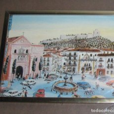 Varios objetos de Arte: CUADRO PLAZA ANTEQUERA. Lote 173667777
