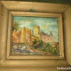 Varios objetos de Arte: ANTIGUA OBRA IMPRESIONISTA PINTURA ANTIGUA OLEO SOBRE LIENZO CON FIRMA. Lote 174002583
