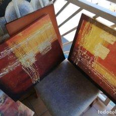 Varios objetos de Arte: CUADROS PINTURA ARTE MEZCLA COLORES BRILLANTES. Lote 174048502