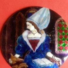 Varios objetos de Arte: TONDO ESMALTE JOYERÍA. FRANCÉS. FIRMADO BIGARD. SEÑALES DEL PASO DE LOS AÑOS.. Lote 174156735