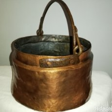 Varios objetos de Arte: CALDERA DE COBRE. Lote 174170805