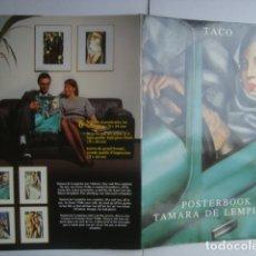 Varios objetos de Arte: POSTERBOOK TAMARA DE LEMPICKA (TACO). 4 LÁMINAS DE 44X31 CM.. Lote 174332015