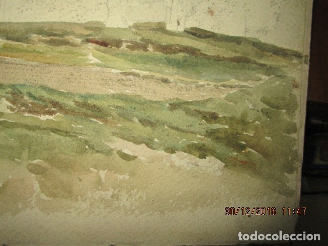 Varios objetos de Arte: PINTURA IMPRESIONISTA FIRMADA ANTIGUO PRINCIPIOS DE SIGLO BOCETO EN CARTON DURO - Foto 6 - 174426915