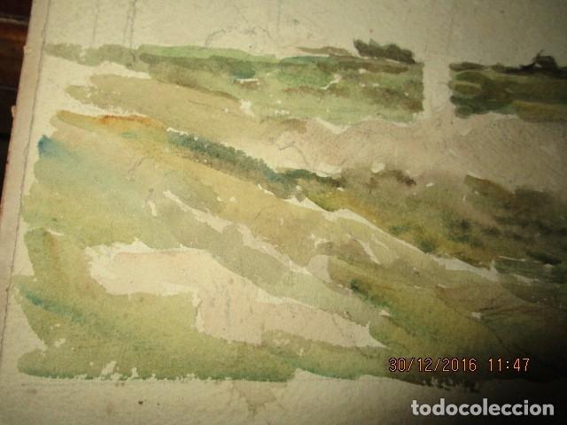Varios objetos de Arte: PINTURA IMPRESIONISTA FIRMADA ANTIGUO PRINCIPIOS DE SIGLO BOCETO EN CARTON DURO - Foto 8 - 174426915