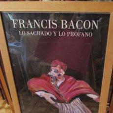Varios objetos de Arte: FRANCIS BACON LO SAGRADO Y LO PROFANO - ENMARCADO Y GRANDE. Lote 174487878