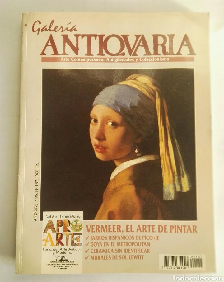 GALERÍA ANTIQVARIA N° 137 1996 VERMEER (Arte - Varios Objetos de Arte)