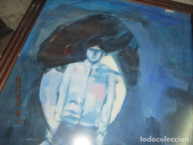 Varios objetos de Arte: OLEO SOBRE CARTON PINTURA CUBISTA AUTORRETRATO PINTOR - Foto 2 - 175041552