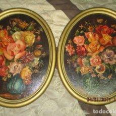 Varios objetos de Arte: PAREJA DE CUADROS OLEO PINTURA SOBRE LIENZO PEGADO A TABLA FIRMADOS 40 X 30 CMS. Lote 175086465