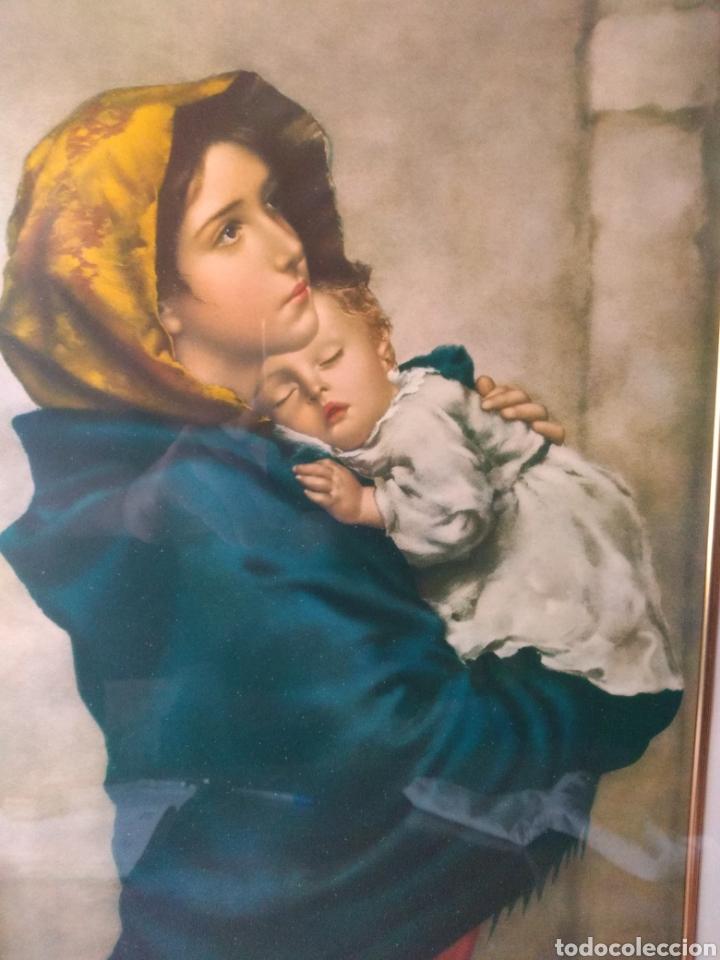 CUADRO ( VIRGEN MARÍA Y NIÑO JESÚS ). MÁS CUADROS EN MÍ PERFIL. (Arte - Varios Objetos de Arte)