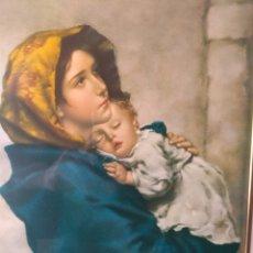 Varios objetos de Arte: CUADRO ( VIRGEN MARÍA Y NIÑO JESÚS ). MÁS CUADROS EN MÍ PERFIL.. Lote 175133312