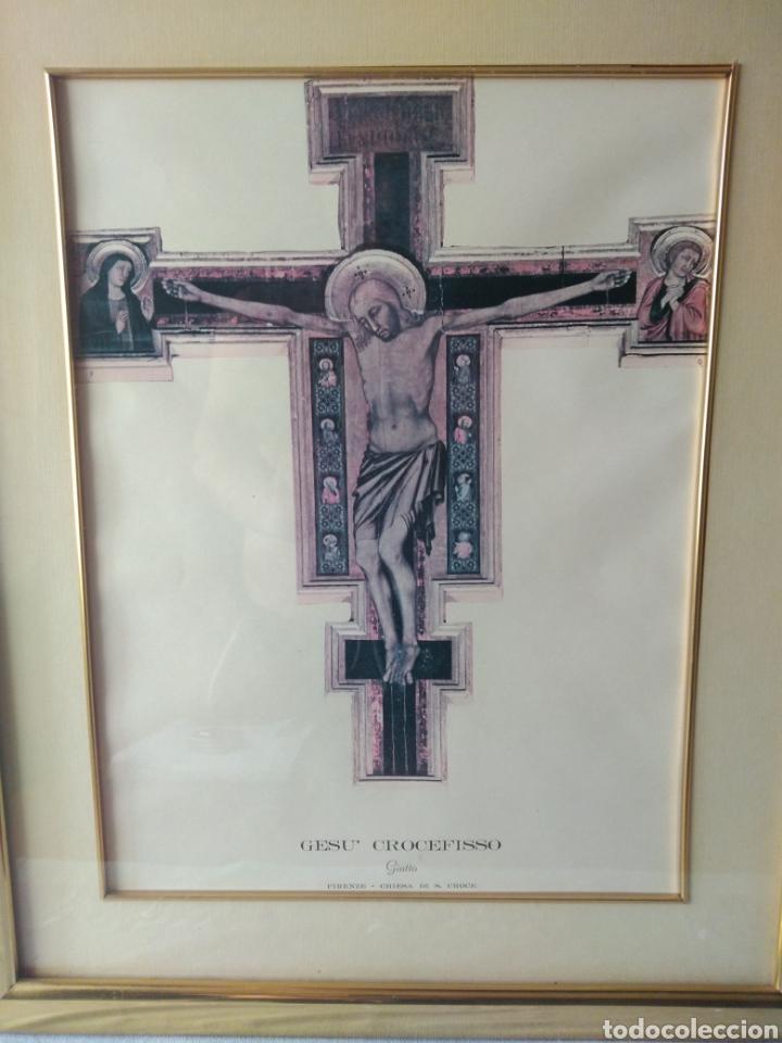 Varios objetos de Arte: CUADRO DE GESU' CROCEFISSO ( GIOTTO ) MÁS CUADROS EN MÍ PERFIL. - Foto 2 - 175135818