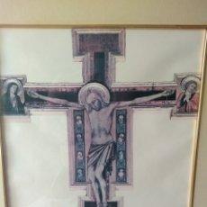 Varios objetos de Arte: CUADRO DE GESU' CROCEFISSO ( GIOTTO ) MÁS CUADROS EN MÍ PERFIL.. Lote 175135818