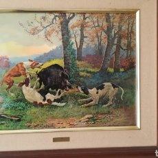 Varios objetos de Arte: CUADRO ESMALTADO DE VICENTE ROSO. Lote 175143262