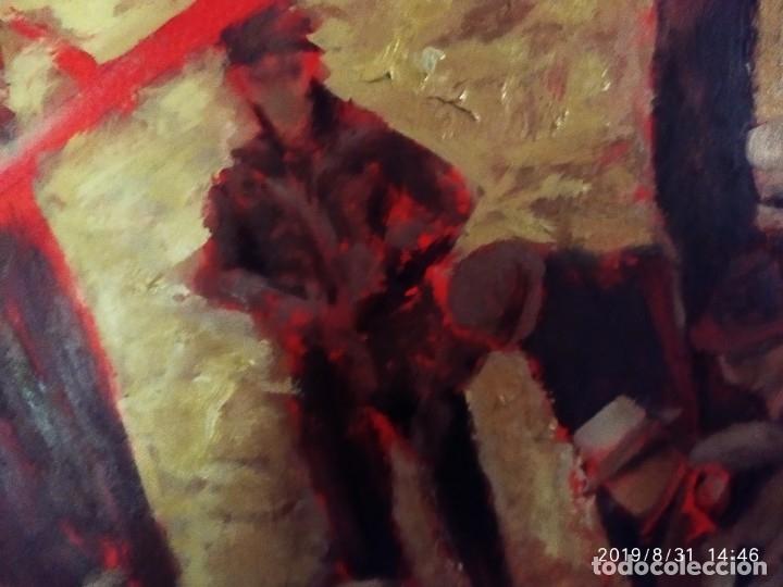 Varios objetos de Arte: DIBUJO ACUARELA SOBRE CARTON PAPEL ESCENA CRIMEN POLICÍAS DESCONOZCO HECHO CARTEL COCA-COLA RARO SIN - Foto 2 - 175283454