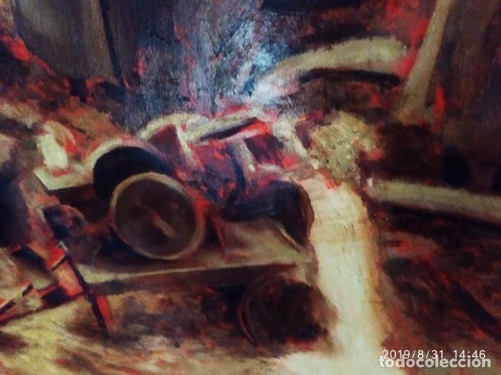 Varios objetos de Arte: DIBUJO ACUARELA SOBRE CARTON PAPEL ESCENA CRIMEN POLICÍAS DESCONOZCO HECHO CARTEL COCA-COLA RARO SIN - Foto 3 - 175283454