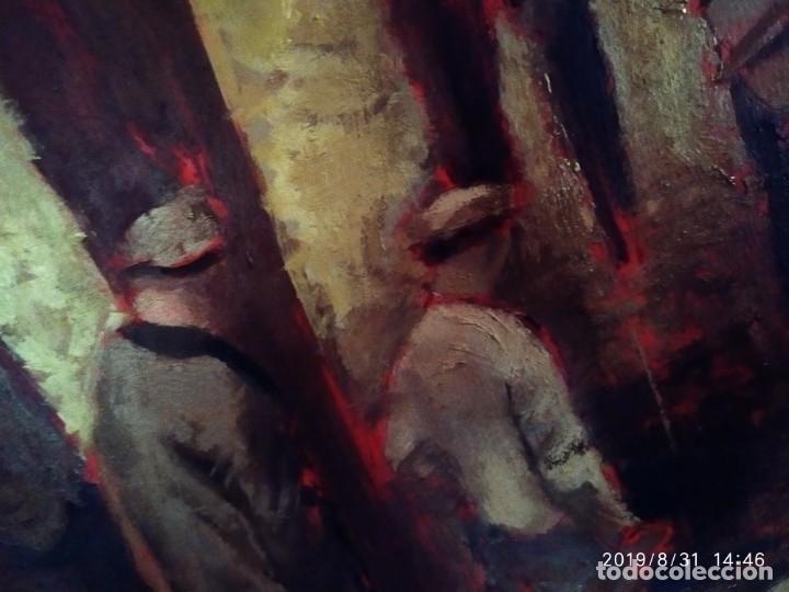 Varios objetos de Arte: DIBUJO ACUARELA SOBRE CARTON PAPEL ESCENA CRIMEN POLICÍAS DESCONOZCO HECHO CARTEL COCA-COLA RARO SIN - Foto 5 - 175283454