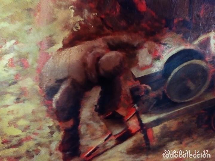 Varios objetos de Arte: DIBUJO ACUARELA SOBRE CARTON PAPEL ESCENA CRIMEN POLICÍAS DESCONOZCO HECHO CARTEL COCA-COLA RARO SIN - Foto 7 - 175283454