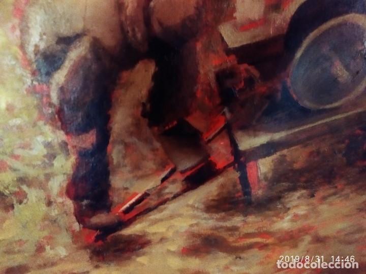 Varios objetos de Arte: DIBUJO ACUARELA SOBRE CARTON PAPEL ESCENA CRIMEN POLICÍAS DESCONOZCO HECHO CARTEL COCA-COLA RARO SIN - Foto 12 - 175283454