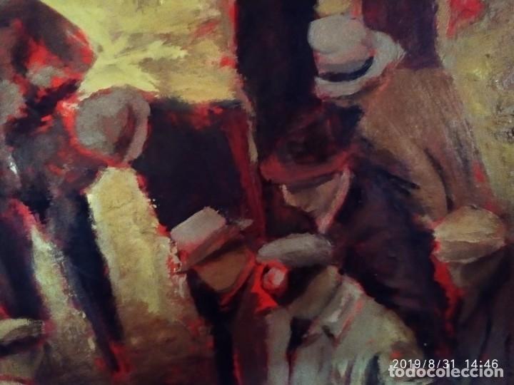 Varios objetos de Arte: DIBUJO ACUARELA SOBRE CARTON PAPEL ESCENA CRIMEN POLICÍAS DESCONOZCO HECHO CARTEL COCA-COLA RARO SIN - Foto 17 - 175283454