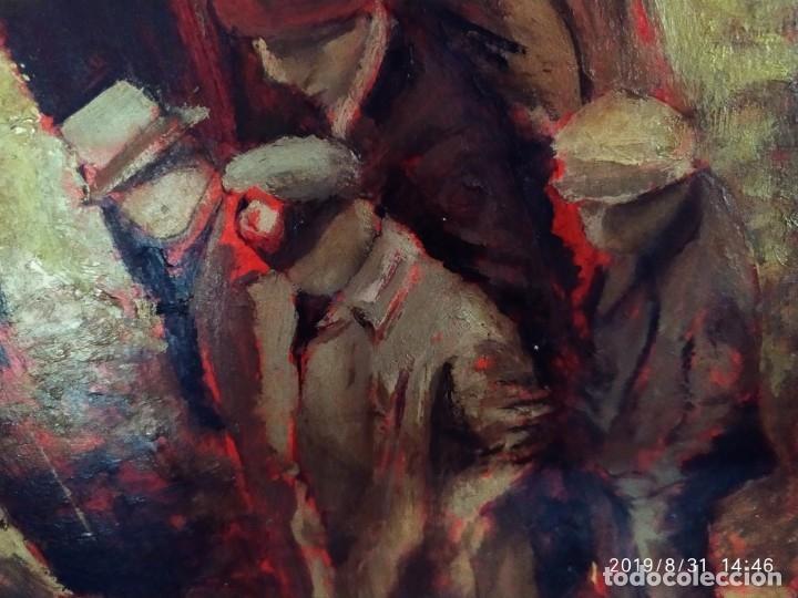 Varios objetos de Arte: DIBUJO ACUARELA SOBRE CARTON PAPEL ESCENA CRIMEN POLICÍAS DESCONOZCO HECHO CARTEL COCA-COLA RARO SIN - Foto 25 - 175283454