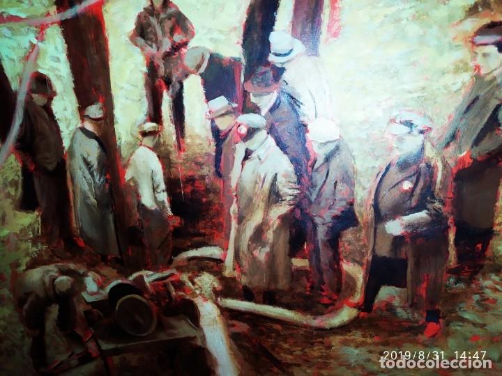 Varios objetos de Arte: DIBUJO ACUARELA SOBRE CARTON PAPEL ESCENA CRIMEN POLICÍAS DESCONOZCO HECHO CARTEL COCA-COLA RARO SIN - Foto 44 - 175283454