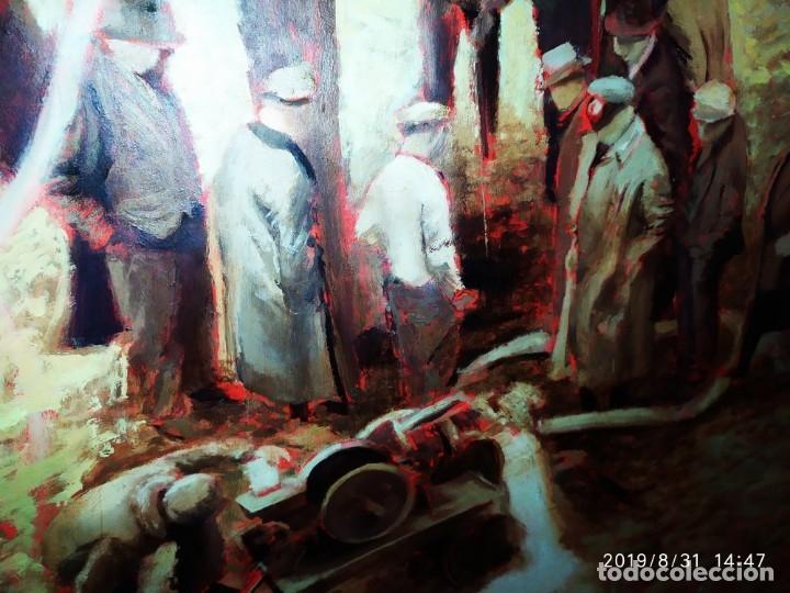 Varios objetos de Arte: DIBUJO ACUARELA SOBRE CARTON PAPEL ESCENA CRIMEN POLICÍAS DESCONOZCO HECHO CARTEL COCA-COLA RARO SIN - Foto 45 - 175283454