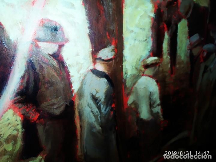 Varios objetos de Arte: DIBUJO ACUARELA SOBRE CARTON PAPEL ESCENA CRIMEN POLICÍAS DESCONOZCO HECHO CARTEL COCA-COLA RARO SIN - Foto 48 - 175283454