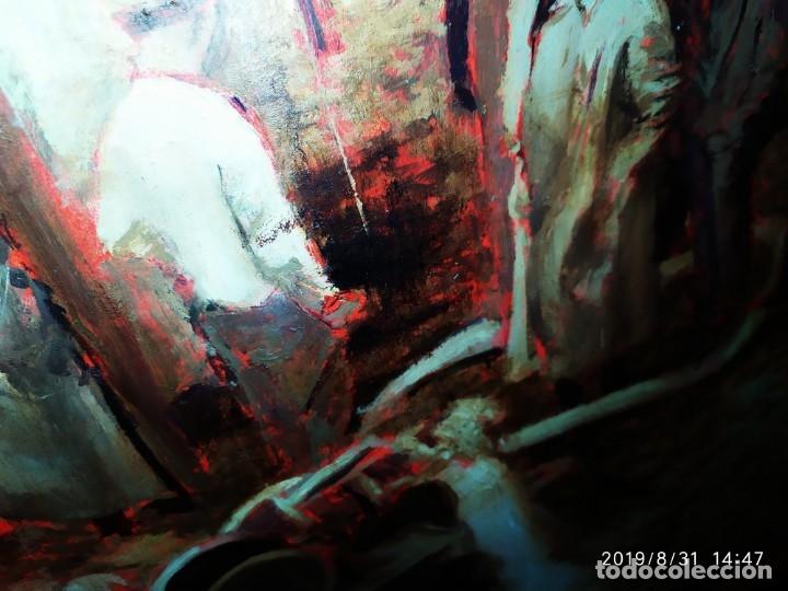 Varios objetos de Arte: DIBUJO ACUARELA SOBRE CARTON PAPEL ESCENA CRIMEN POLICÍAS DESCONOZCO HECHO CARTEL COCA-COLA RARO SIN - Foto 49 - 175283454